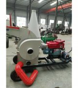 Mobile conveyor wood crusher